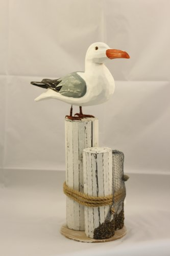 Seagull on Piling Decoration