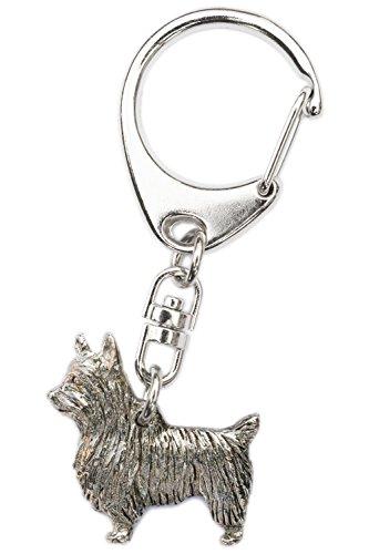 シルキーテリア(オーストラリアンシルキーテリア) イギリス製 アート ドッグ キーホルダー コレクション