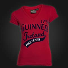 Guinness Red Pure Genius Ladies Tee