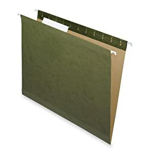 Pendaflex Reinforced Hanging Standard Green No-Tab File Folders 25 Pack (4152)