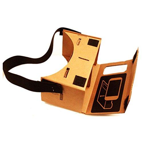 3D Cardboard Glasses, TOOPOOT Google Cardboard Valencia Quality VR 3D Virtual Reality Glasses