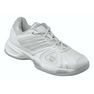 wilson s open tennis shoe white aluminum