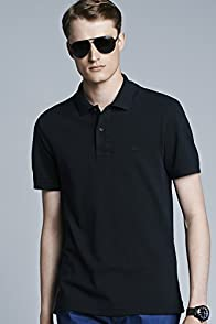 Short Sleeve Vintage Washed Polo With Woven Trim