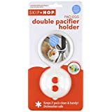 Skip Hop Paci Egg Double Pacifier Holder (White/Red)