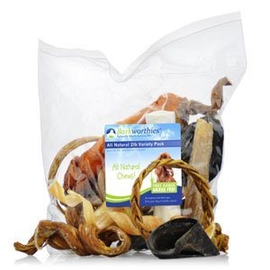 Barkworthies Treat and Chew Variety Pack, 2-Pound