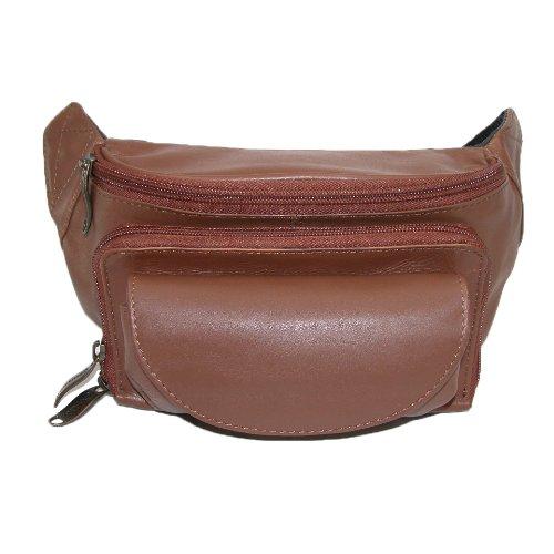 Winn-Harness-Leather-Large-Fanny-Pack-Black-Brown-Cognac-Blk-Faux-Croc