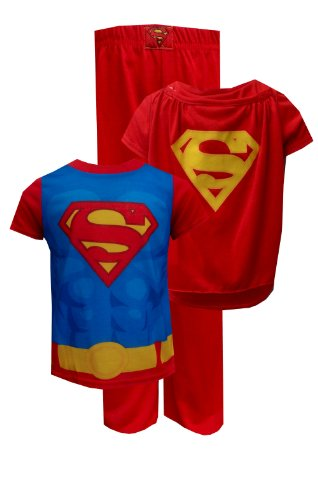 Dc Comics Superman Toddler Pajama With Cape For Boys (2T) back-903088