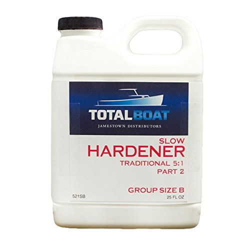 TotalBoat 5:1 Epoxy Slow Hardener (6 Ounces (for Quart of resin)) (Slow Curing Epoxy compare prices)