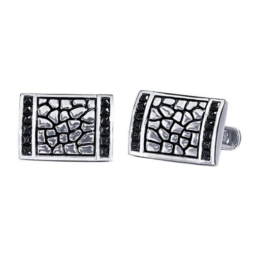 J.Goodman Sterling Silver Black Spinel Cufflinks (J Goodman Cufflinks compare prices)