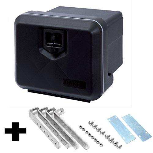 LKW-Staukasten-aus-Kunststoff-500x350x400-mm-39-ltr-inkl-Vertikale-Halter-Werkzeugkasten-Staubox-Deichselkasten-Deichselbox