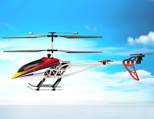 SongYang 8088-36 3 Channels RC Helicopter with Gyroscope (Red)
