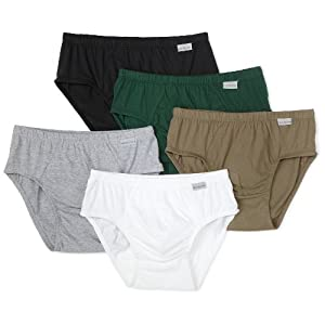 Fruit of the Loom Men's 5-Pack Assorted Color Low Rise Briefs