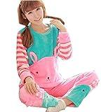 Ladies Super Soft Flannel Warm Onesies Cute Rabbite Sleepsuit Nightwear M152 160cm 44 50kg