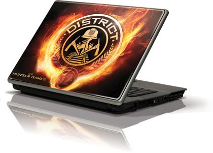 Skinit The Hunger Games -District 12 Logo on Fire Vinyl Laptop Skin for Generic 12in Laptop (10.6in X 8.3in)