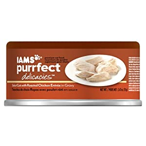 Iams Purrfect Delicacies Select Cuts with Roasted Chicken Entree Cat Food, 2.47-Ounce