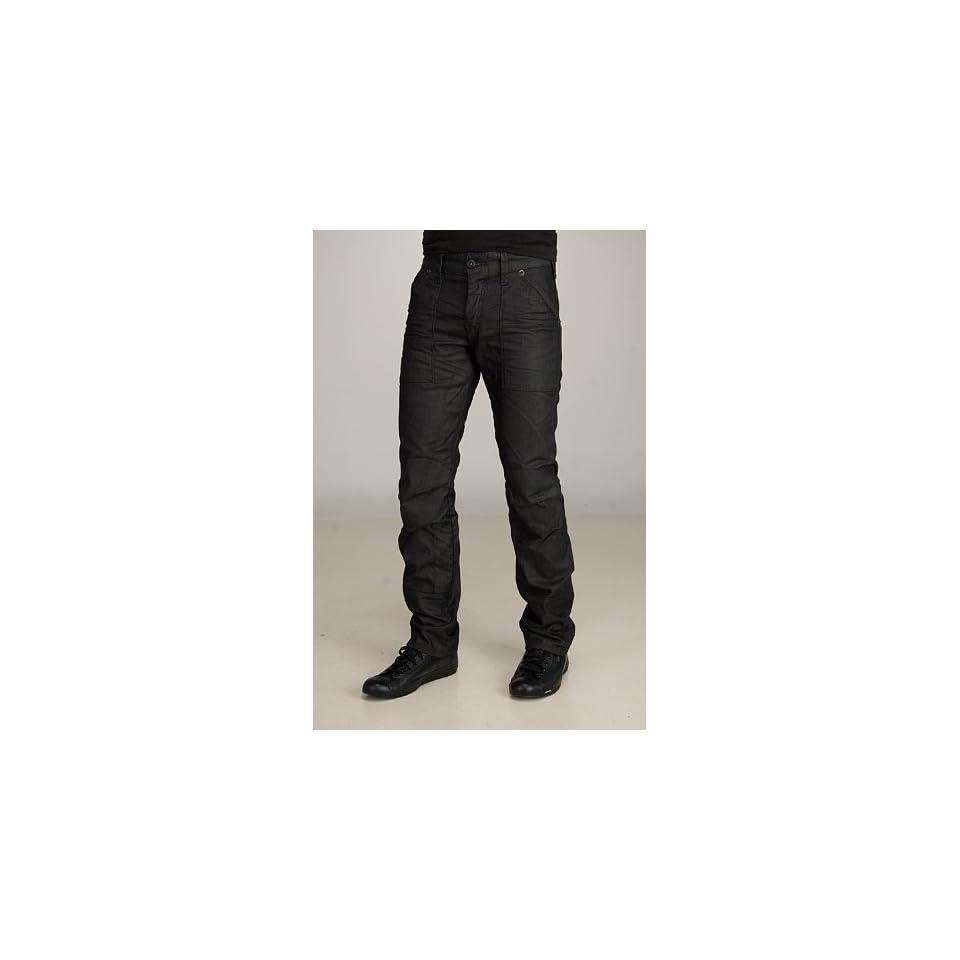 78dcd6c03eb G Star Fire Elwood Narrow Crushed Black Jeans on PopScreen