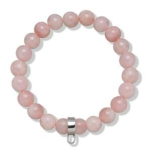 Rafaela Donata Bracelet quartz rose rosé avec porte-charms argent 60990029