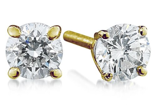 1.50ct Round Diamond Solitaire Earrings in 18k Yellow Gold