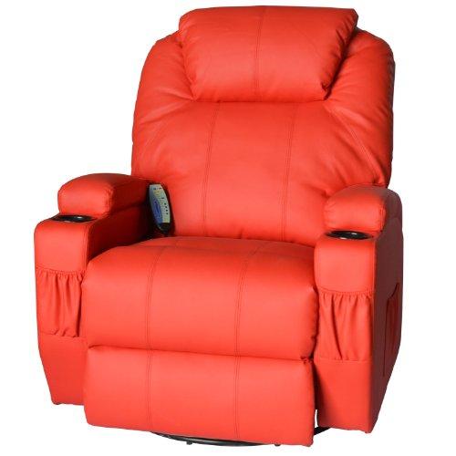Luxury PU Leather Cinema Massage Rocking Swivel Heated Nursing Gaming Recliner Chair