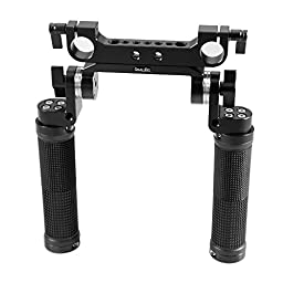 Smallrig® Rosette Handle Kit for Shoulder Pad 19mm Rail Rod Rig Support System - 1455 (Rubber)