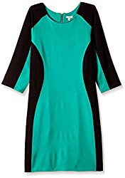 AND Women's Rayon Body Con Dress (AW15N24-DR-53LR_Green_16)