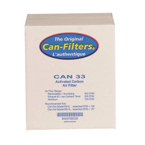 Can 33 Carbon Filter With Prefilter, Flange Sold Separately (Can Filter 100 compare prices)
