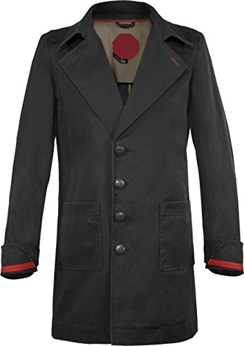 Musterbrand Assassin's Creed Cappotto Trench Uomo Cormac Long Cotton Jacket / Gaming Clothes Nero S
