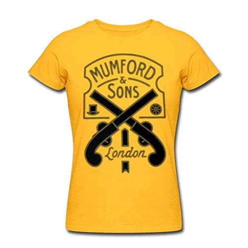 Donna's Mumford & Sons Rock Band Blake Mills Gold T Shirt X-Large