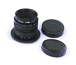 Fotasy M35 35MM F1.7 TV Movie Lens for Olympus Panasonic MFT Micro 4/3 M43 Cameras