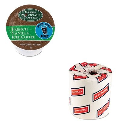 Kitbwk6180Gmt6832 - Value Kit - Green Mountain Coffee Roasters Brew Over Ice French Vanilla Iced Coffee K-Cups (Gmt6832) And White 2-Ply Toilet Tissue, 4.5Quot; X 3Quot; Sheet Size (Bwk6180)
