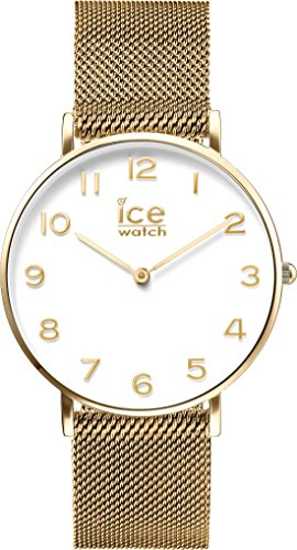 ICE-Watch - 012707 - City Milanese - Montre Homme - Chronomètre - Cadran Blanc - Bracelet Acier Or