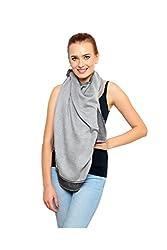 Uniscarf Silk Wool Reversible Grey Shawl