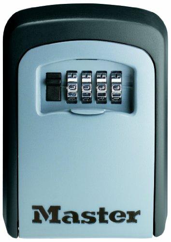 Master-Lock-Custodia-per-Chiavi-a-Combinazione-Murale-per-Condividere-le-Chiavi-in-Totale-Sicurezza-163-cm3-GrigiaNera