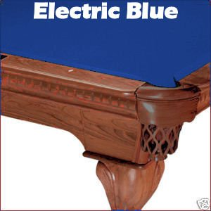 Review 7' Electric Blue Mali Pool Table Cloth Felt