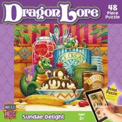 MasterPieces Puzzle Company Dragon Lore Sundae Delight Value Jigsaw Puzzle (48-Piece), Art by Randal Spangler