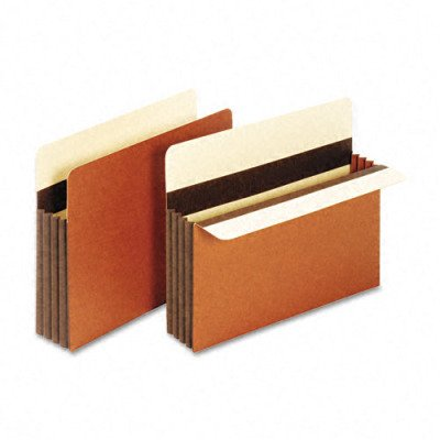 Pocket, File, Letter, 24 Pt., 3-1/2, Expansion, Brown