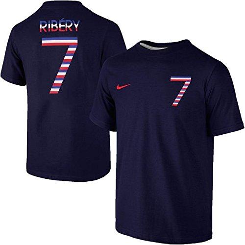 Nike Franck Ribery France Player Name & Number Navy Blue Hero T-Shirt - Men's Medium