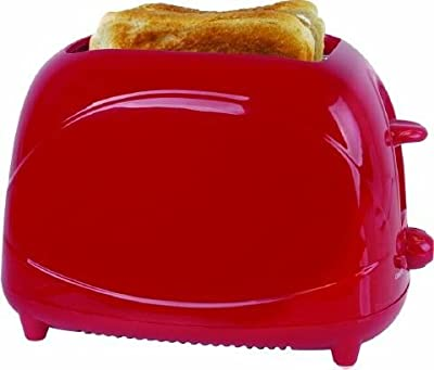 Lloytron Lloyrton 2 slice toaster red 700W 7 variable electric browning control cool touch slide-out crumb tray (Lloytron) by Lloytron