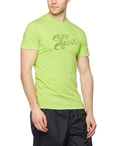 Salewa T-Shirt Manica Corta Clean Climb Co M S [Verde Chiaro]