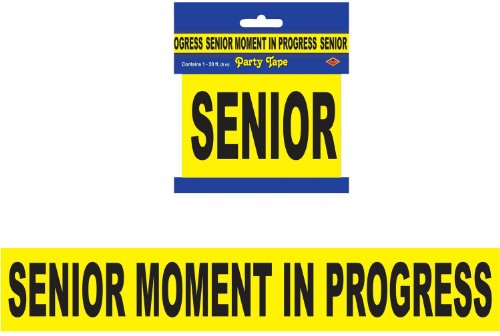 "Senior Moment In Progress Party Tape 3"" x 20' 1/Pkg - 1"