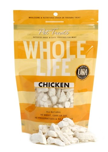 Whole Life Pet Pure Meat All Natural Freeze Dried Chicken Breast Treats 4 oz