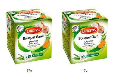 DUCROS - Aides Culinaires - Court bouillons et Bouquets Garnis - Bouquet garni pour legumes et potages - lot de 2