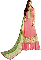 Shenoa Women's Tassar Silk Unstitched Dress Material(1115, Pink)