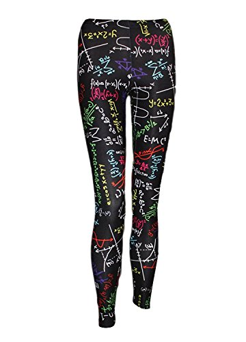 Math Formulas Blackboard Design Printed Back to School Leggings (XXL)