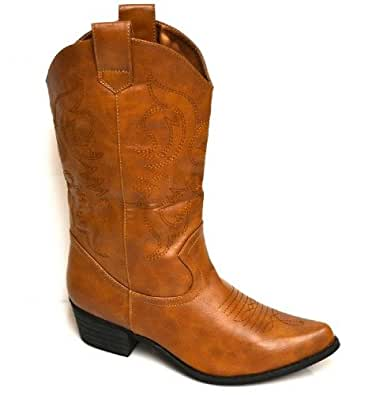s womens cowboy boots light brown shoes
