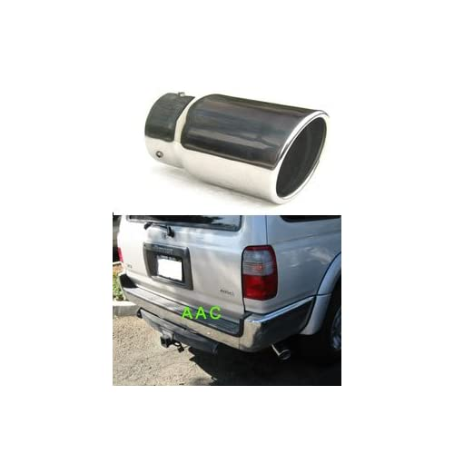 Stainless steel exhaust tip w/ mirror chrome finish   Toyota 4Runner 96 02