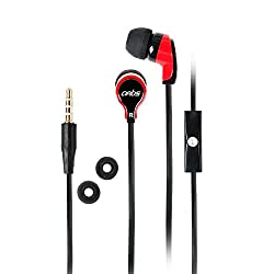Artis E100M In-Ear Headphones with Mic. (Black-Red)