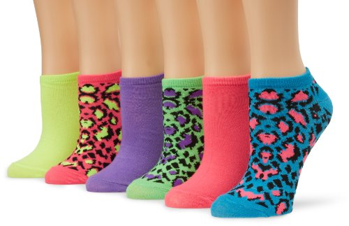 K. Bell Women's 6 Pack Novelty Crew Socks, Leopard, 9-11 (Leopard Hunter Liners compare prices)