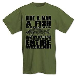 Bang Tidy Clothing Men's Give A Man A Fish T Shirt