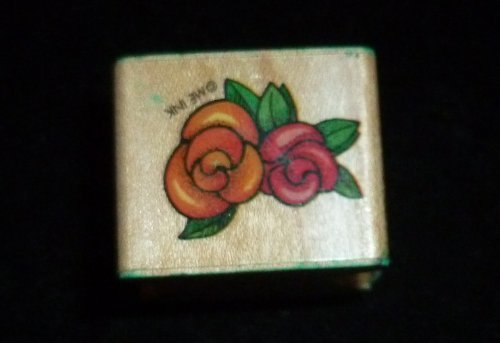 Small Cabbage Roses Rubber Stamp - 1